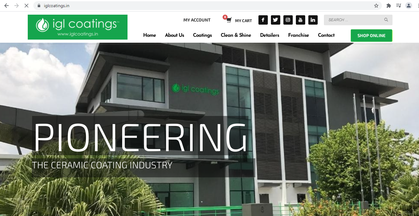 IGL Coatings India - Website Developer