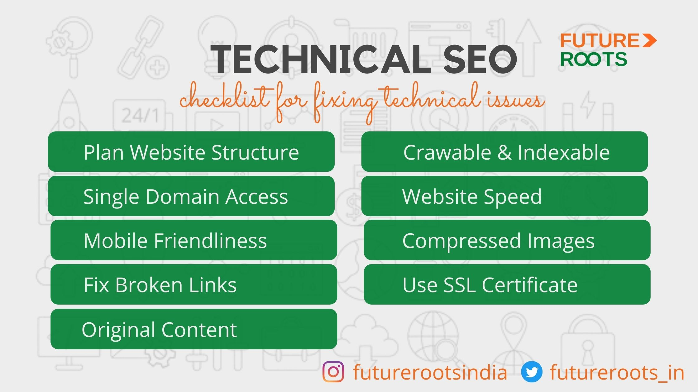 Checklist for fixing technical issues in SEO